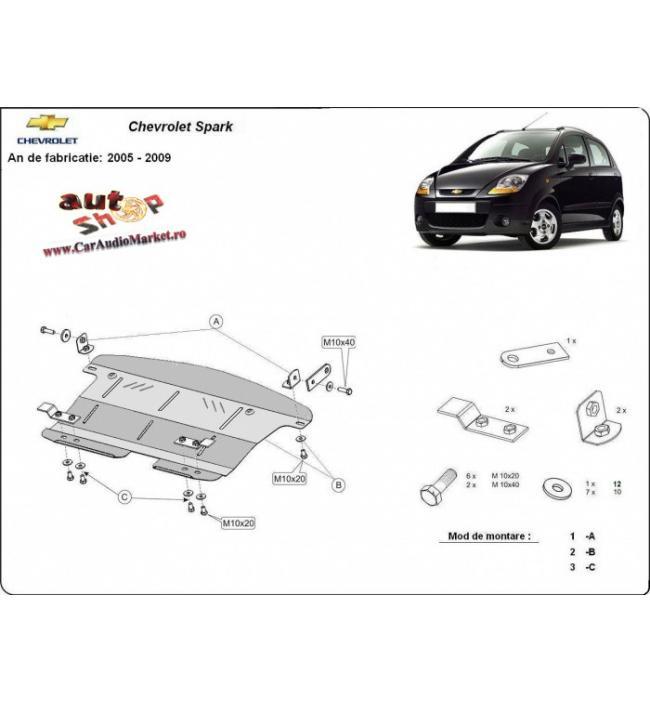 Scut metalic pentru motor si cutia de viteze Chevrolet Spark 2005 2006 2007 2008 2009 2010