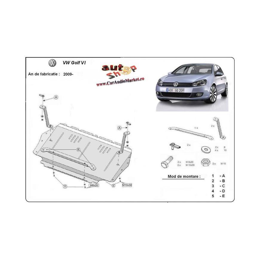 Scut metalic pentru motor si cutia de viteze Vw Golf VI