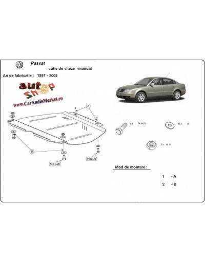 Scut metalic pentru cutia de viteze VW Passat B5, 2,5Tdi,V6,1997-2005-Manual