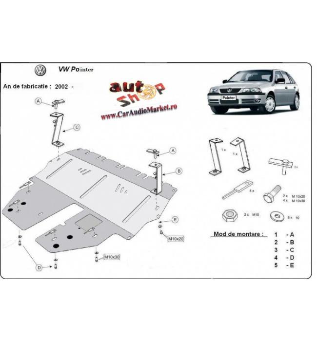 Scut motor metalic pentru VW Pointer, 1.2,1.4,1.9Tdi,2002-