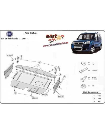 Scut metalic pentru motor si cutia de viteze Fiat Doblo