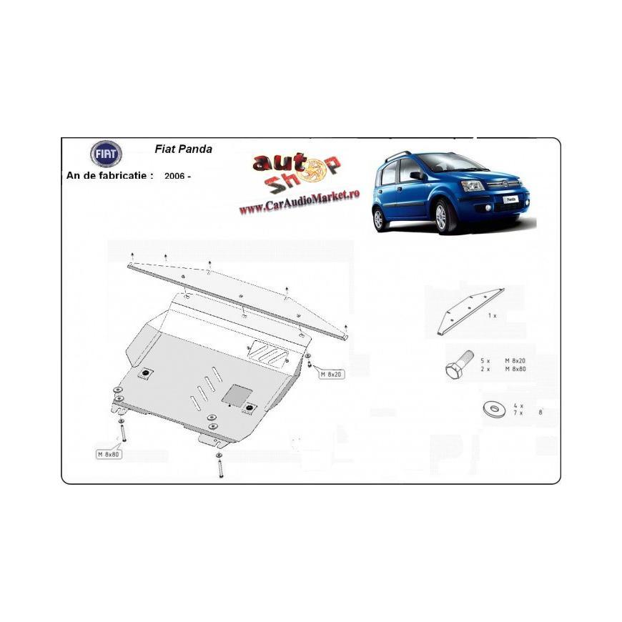 Scut metalic pentru motor si cutia de viteze Fiat Panda 2006-