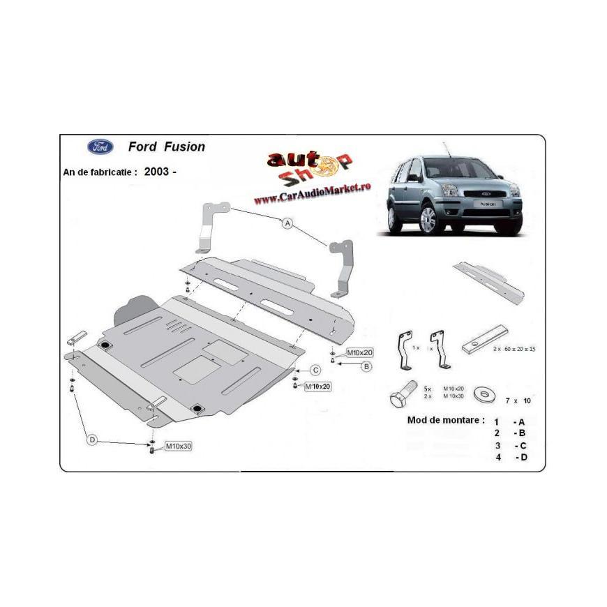 Scut metalic pentru motor si cutia de viteze Ford Fusion