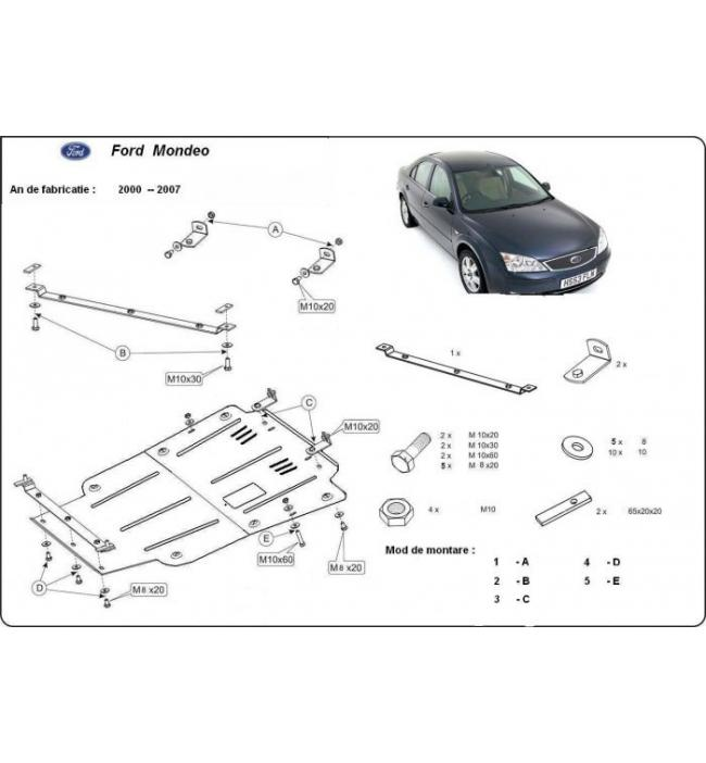 Scut motor metalic pentru Ford Mondeo 2000-2007