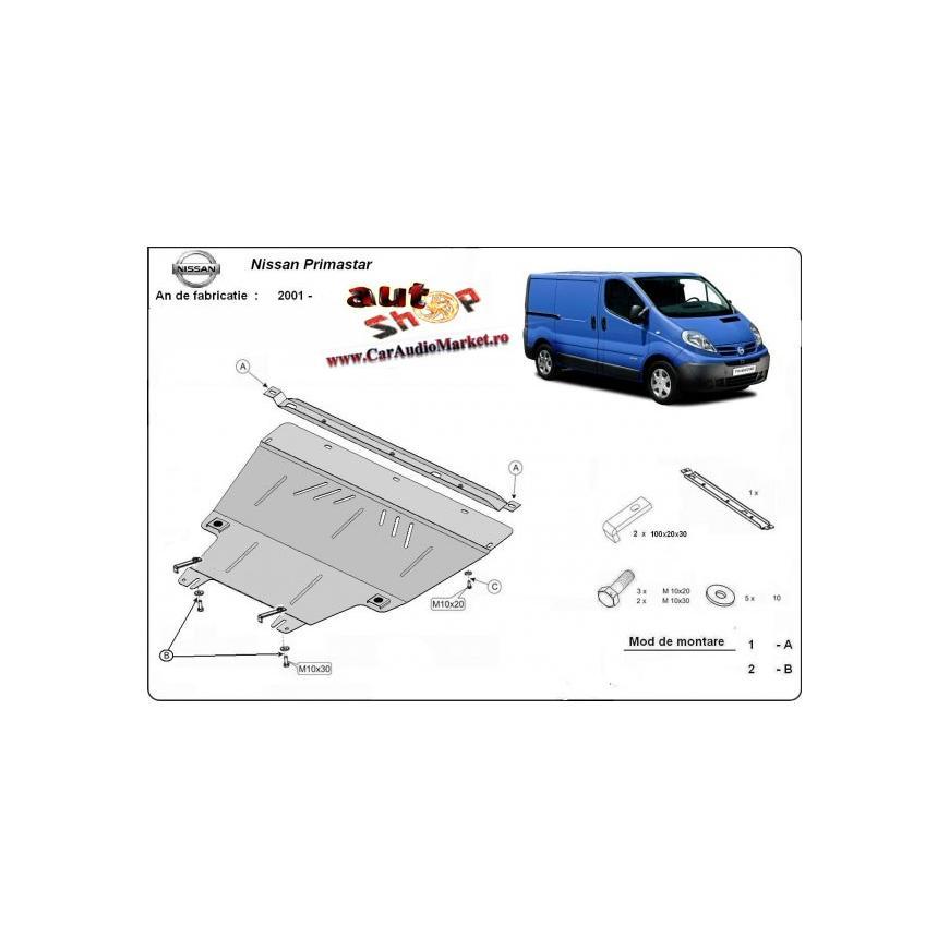 Scut metalic pentru motor si cutia de vitezeze Nissan Primastar 2001-