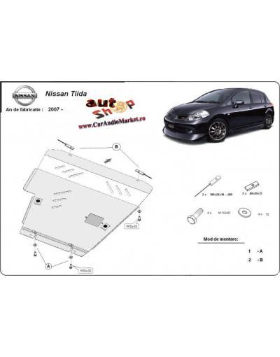 Scut metalic pentru motor si cutia de vitezeze Nissan Tiida  2007-