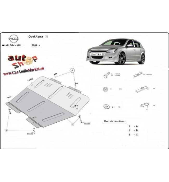 Scut auto metalic pentru motor si cutia de viteze Opel Astra H 2004-2010
