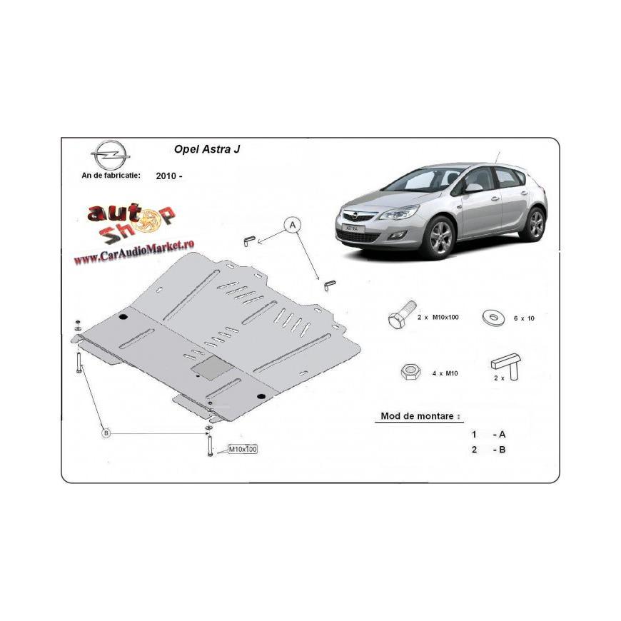 Scut motor metalic Opel Astra J 2010-