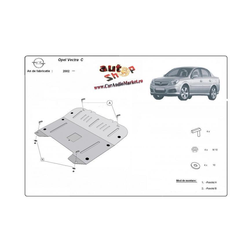Scut metalic pentru motor si cutia de vitezeze Opel Vectra C  2002-