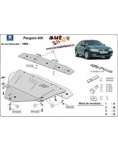 Scut metalic pentru motor si cutia de vitezeze Peugeot 406
