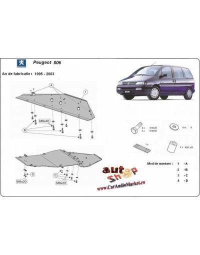Scut metalic pentru motor si cutia de vitezeze Peugeot 806