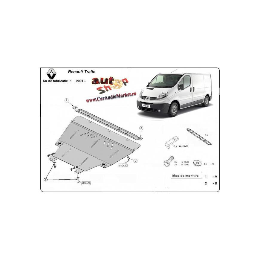 Scut metalic pentru motor si cutia de vitezeze Renault Traffic