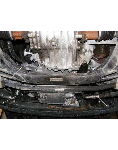 Scut motor metalic frontal pentru Audi A4 2001 - 2005
