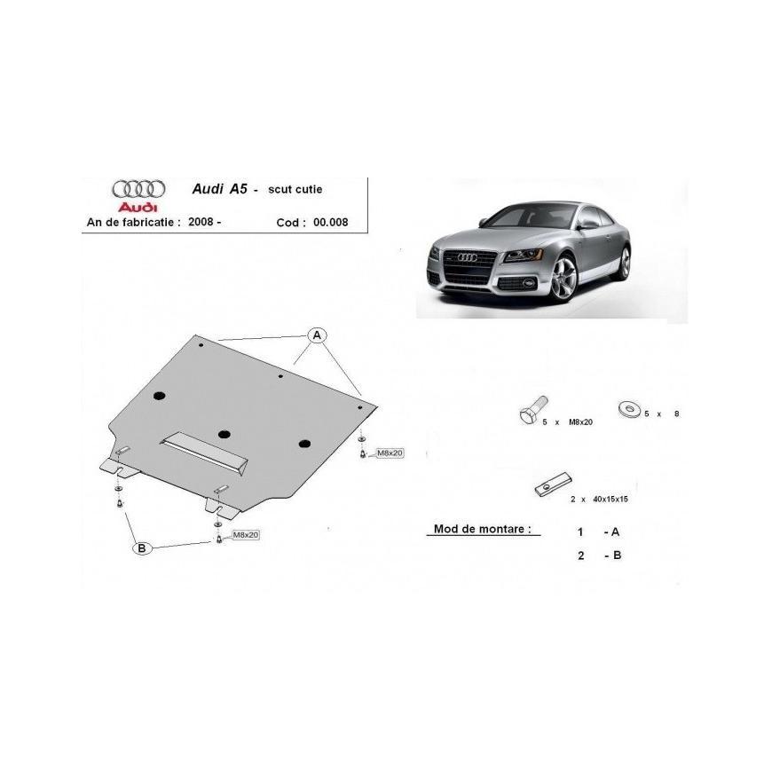 Scut metalic cutie de viteze Audi A5 2008 2009 2010 2011 2012 2013 2014