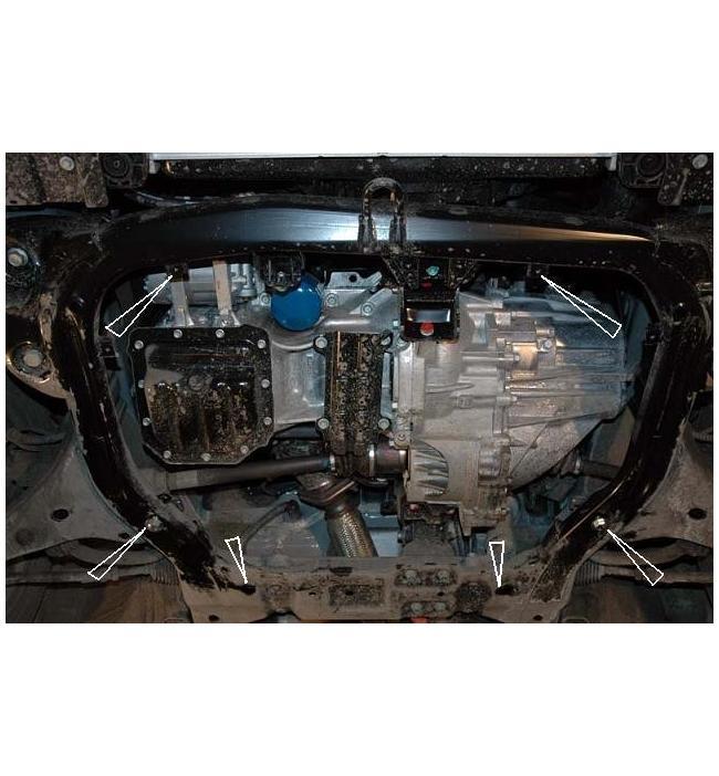 Scut metalic pentru motor si cutia de viteze Hyundai Elantra.