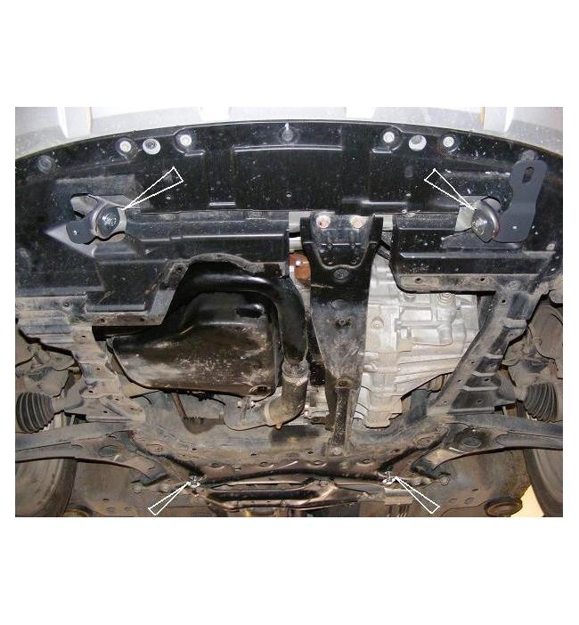Scut metalic motor si cutia de viteze pentru Citroen C-crosser