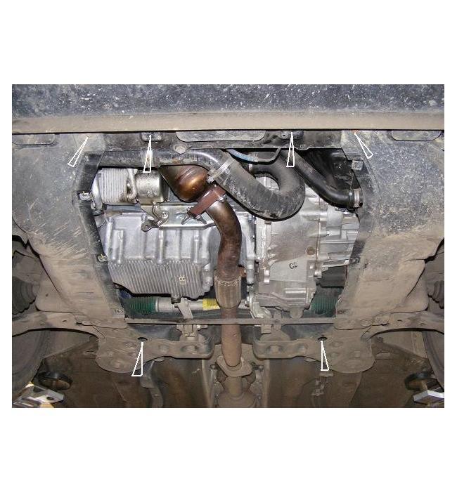 Scut metalic pentru motor si cutia de viteze Fiat BravoScut metalic pentru motor si cutia de viteze Fiat Bravo 2006-