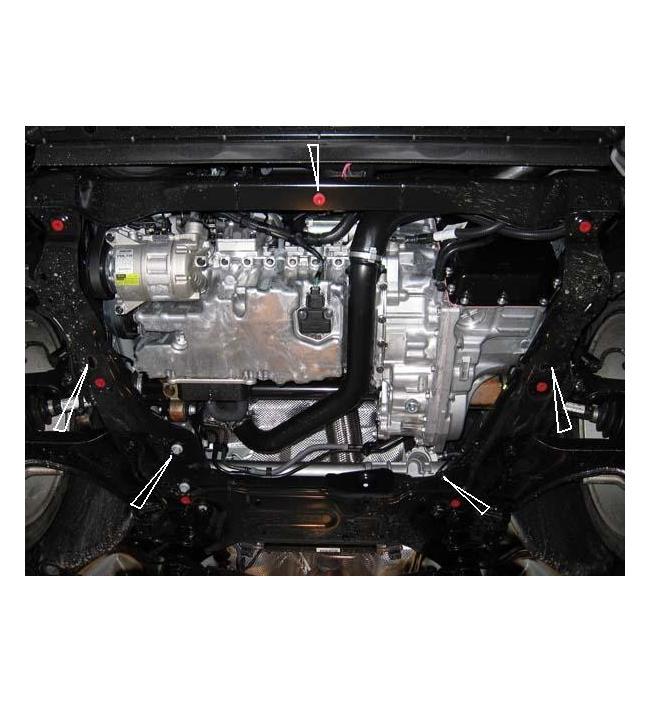 Scut metalic pentru motor si cutia de viteze Ford S-max 2007-