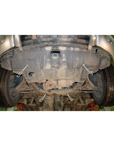 Scut auto metalic pentru motor si cutia de viteze Hyundai Santa Fe II fab.2006-