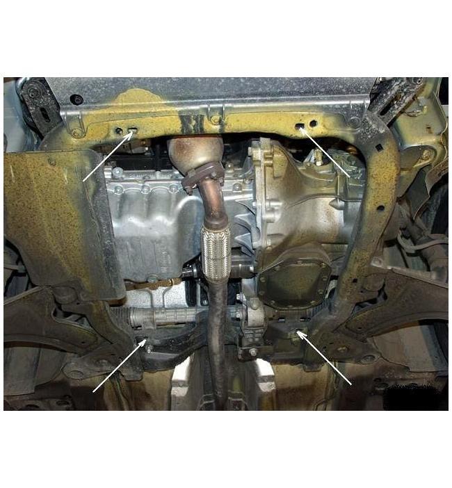 Scut metalic pentru motor si cutia de vitezeze Opel Corsa C 2000-2006