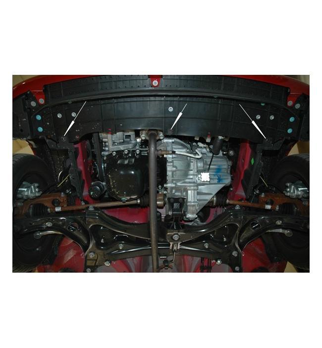 Scut metalic pentru motor si cutia de vitezeze Peugeot 107