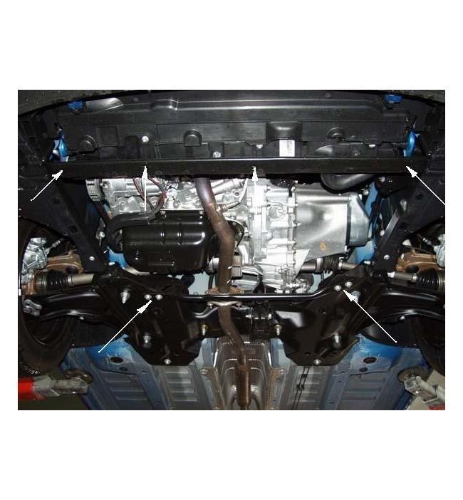 Scut metalic pentru motor si cutia de viteze Peugeot 4007