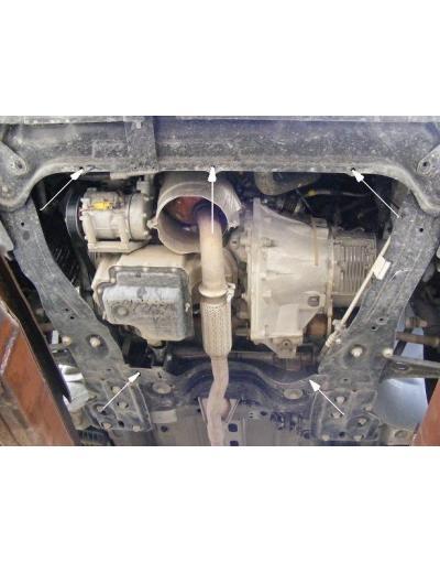 Scut metalic pentru motor si cutia de viteze Peugeot Expert II dupa 2006