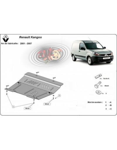 Scut metalic pentru motor si cutia de vitezeze Renault Kangoo