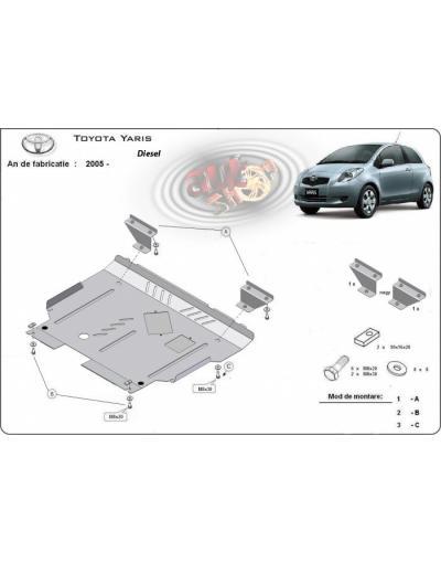 Scut motor metalic Toyota Yaris dupa 2005 (diesel)