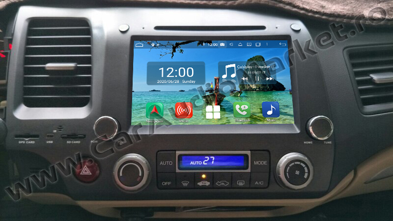 navigatie android honda civic 2006 2007 2007 2008 2009 2010 2011 dupa montaj